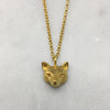 Gold Fox Head Necklace