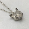 Silver Fox Head Necklace