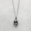 Full Skull Silver Necklace