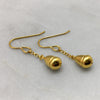 Gold Fresh Water Pearl Earrings