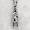 Gun Toting Grizzly Bear Silver Necklace