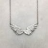 Tiny Silver Wings Necklace