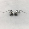 Jawless Silver Skull Drop Earrings