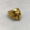 Gold Jawless Skull Ring