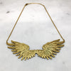 Large Gold Double Wing Necklace
