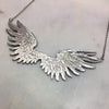 Silver Large Double Wing Necklace