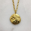 Gold Lion Coin Necklace