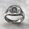 London Rough Silver Signet Ring