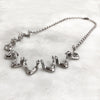 Nine Jaw Silver Necklace