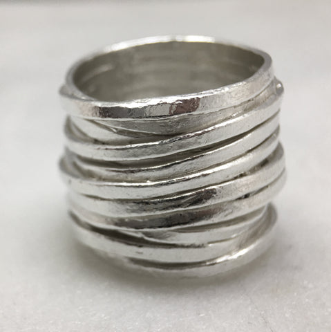 Large Silver Coil Ring
