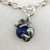 Tiny Mouse & Blue Ball Bracelet