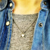 Tiny Silver Heart & Arrow Necklace