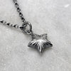 Silver Engraved Star Necklace