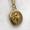 Octopus & Hare Gold Coin Necklace