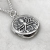 Octopus & Hare Oxidised Silver Coin Necklace