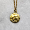 Ancient Octopus Coin Gold Necklace