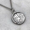 Ancient Octopus Coin Silver Necklace