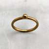 One Ball Gold Ring