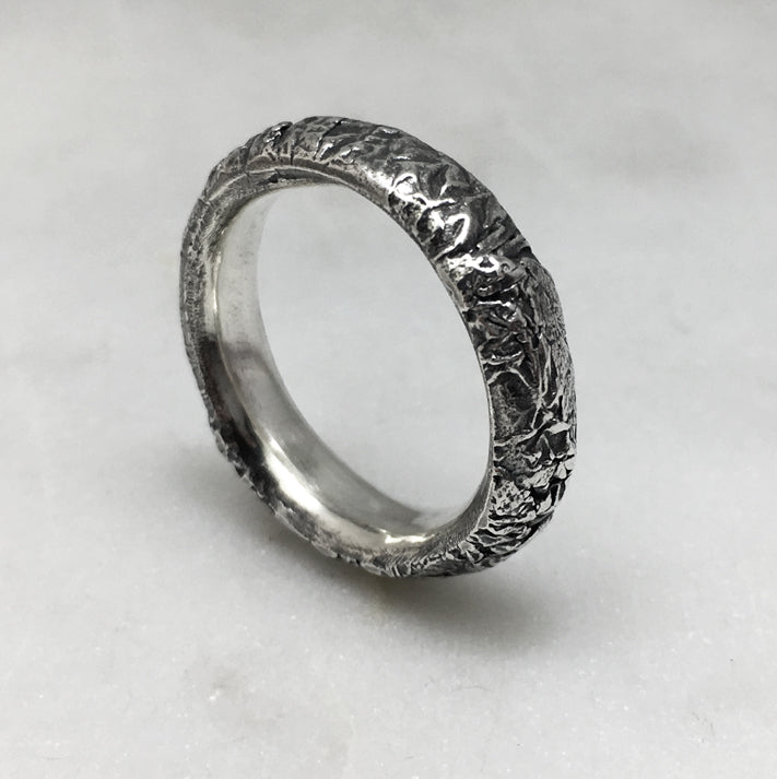 Crush Silver 6mm Ring