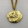 Gold Parrot Coin Necklace