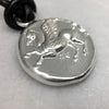 Pegasus Silver Coin Leather Necklace