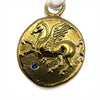 Pegasus Gold Coin & Blue Topaz Necklace