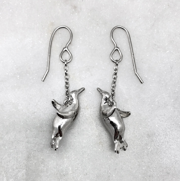 Flying Penguin Earrings