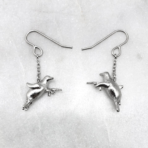 Gun Toting Penguin Earrings