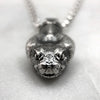 Rattlesnake Head Silver Necklace