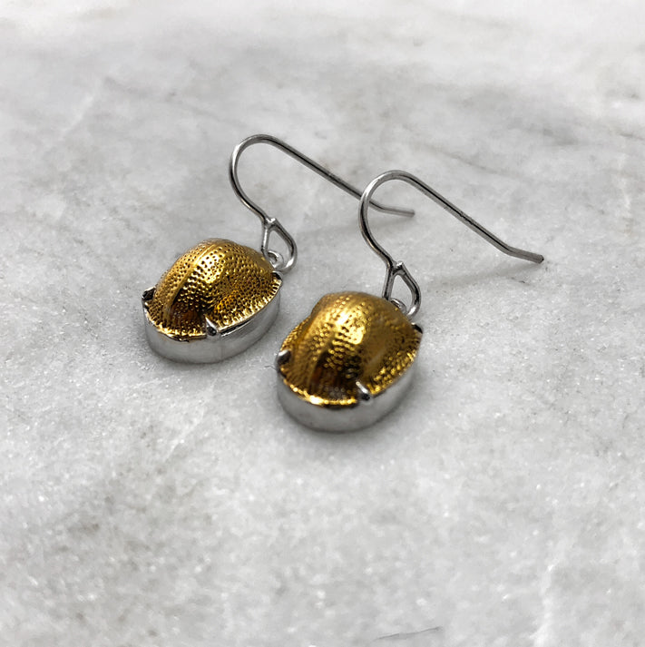 Scarab Beetle Silver / Gold Earrings