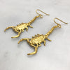 Gold Scorpion Earrings