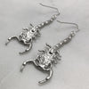 Silver Scorpion Earrings