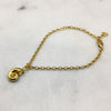 Tiny Gold Shell Bracelet