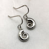 Tiny Silver Spirula Shell Earrings