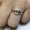 Gold Bee Signet Ring