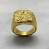 Crush Square Signet Gold Ring
