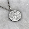 Silver Threepence Necklace