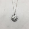 Silver Tudor Coin Necklace