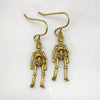 Gold Skeleton Hook Earrings