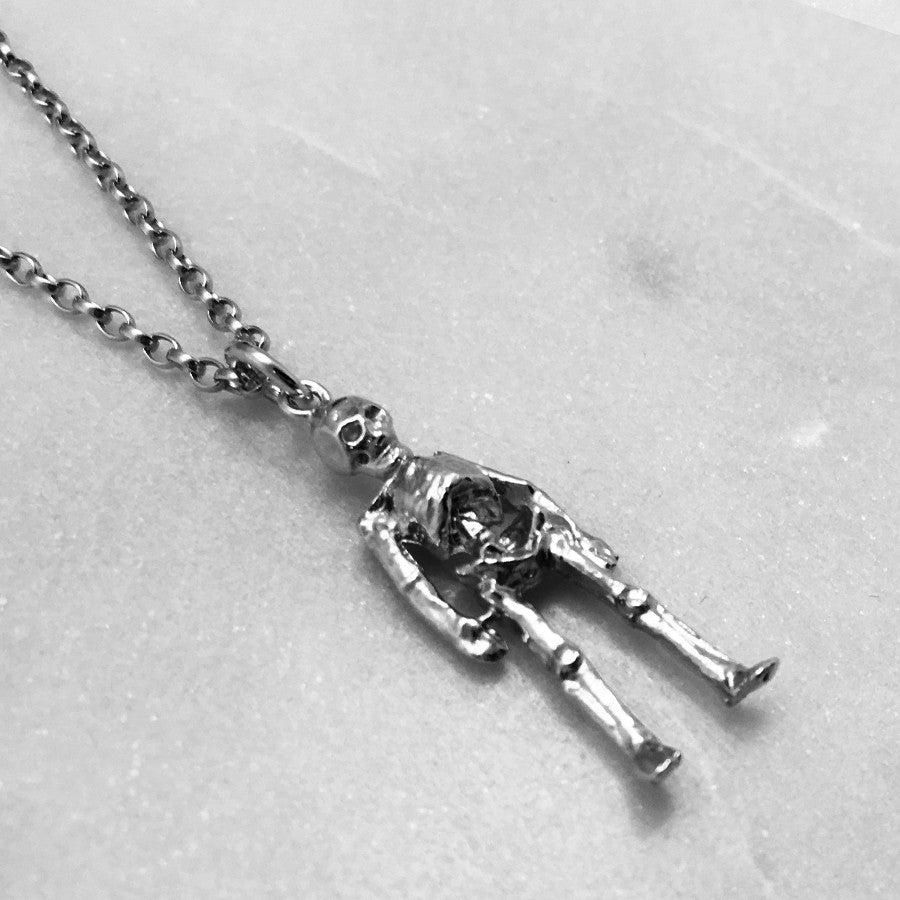 Silver skeleton necklace jewel thief silver skeleton necklace aloadofball Gallery