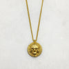 Memento Mori Gold Skull Disc Necklace