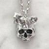 Jawless Skull With Succulents Necklace