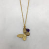 Small Gold & Amethyst Butterfly Necklace