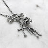 Bone T-Bar Charm Necklace