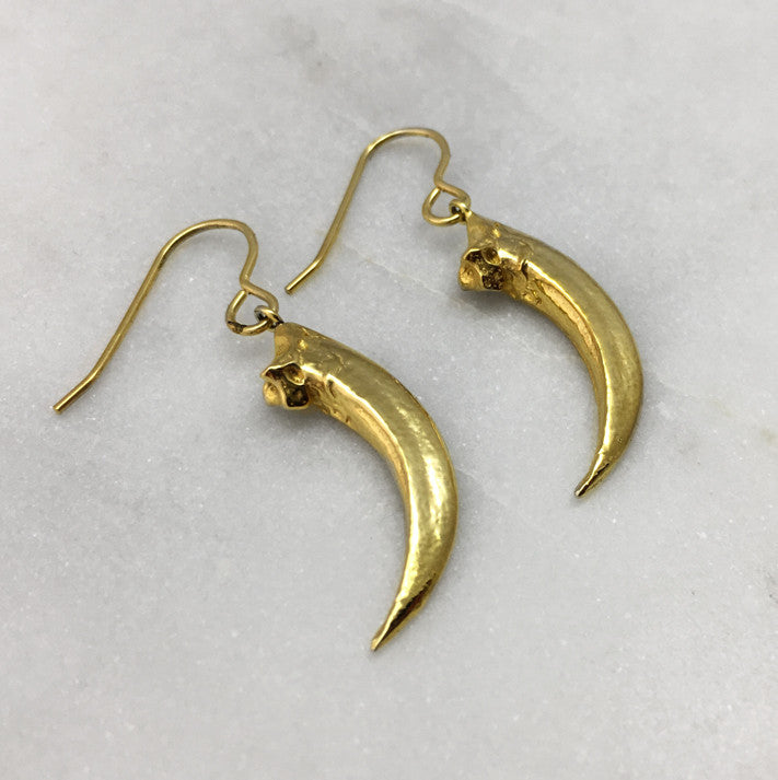 Red-Tailed Hawk Gold Talon Earrings