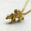 Tiny Gold Bear Necklace