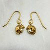 Gold Mystic Mouse & Pearl Hook Earrings