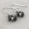 Silver Mystic Mouse & Pearl Hook Earrings