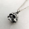 Tiny Silver Skull Necklace