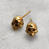 Tiny Gold Skull Stud Earrings